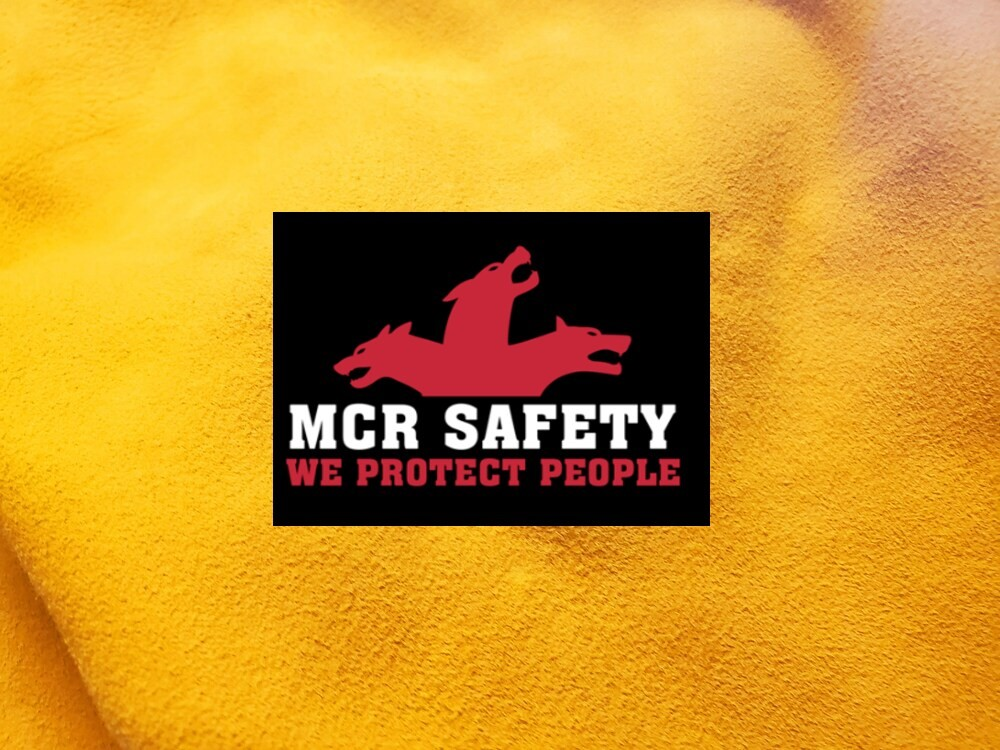 MCR Safety Logo on Leather