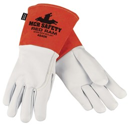 X-Large Brown//Cream 1-Pair MCR Safety 4921XL Red Ram Cow Leather Mig//Tig Welder Gloves with Wing Thumb