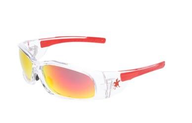 MCR CREWS SWAGGER SAFETY GLASSES SR132AF RED FRAME//GRAY ANTI-FOG LENS SUNGLASSES