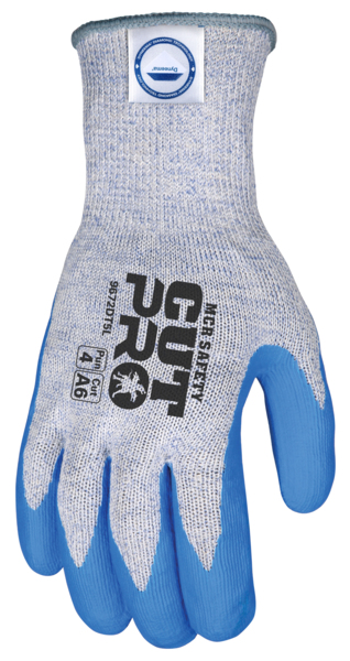 MCR Safety 9672DT5XS 10 Gauge Diamond Technology//Steel Memphis Dyneema Gloves with Blue Nitrile Foam Coated palm 1 Pair X-Small