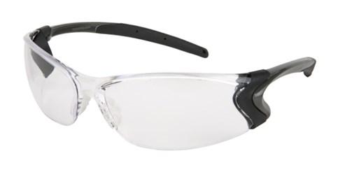 Safety Glasses Clear Lens Black Frame Side Shield Work UV Protection Anti-Fog