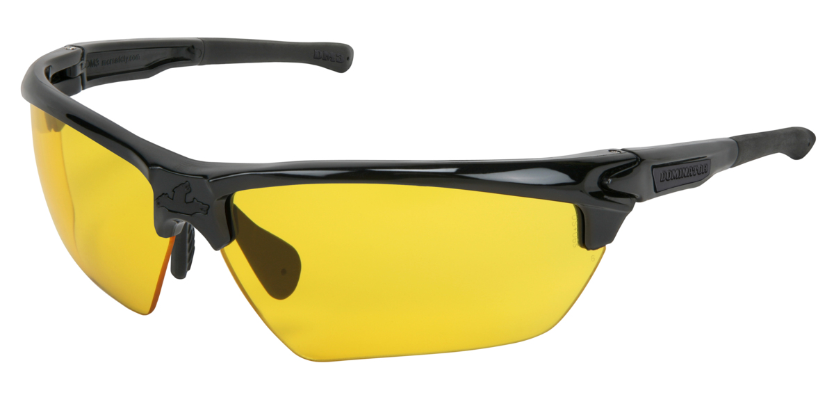 Dominator DM3 Safety Glasses with Amber Anti-Fog Lens Black Frame