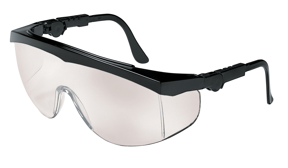 304222331a81 TK1 Series, Black Frame, Indoor/Outdoor Clear Mirror Lens