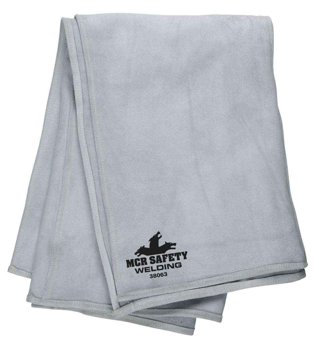 6-Feet by 3-Feet Gray MCR Safety 38063 Heavy Side-Split Leather Welding Blanket