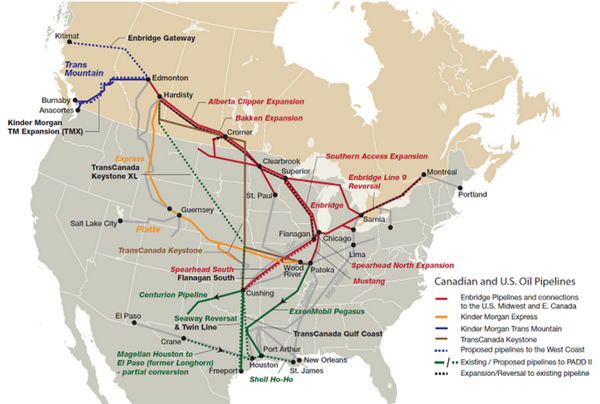 Mcr Safety Pipeline Transportation And Storage - Us-gas-and-oil-pipeline-map