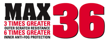 MCR Safety MAX36 Anti-Fog & Scratch resistance Technology