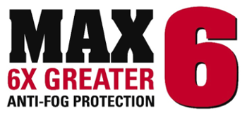 MCR Safety MAX6 Anti-Fog Protection Technology