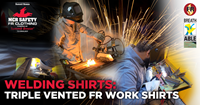 Welding Shirts: Triple-Vented FR Work Shirts