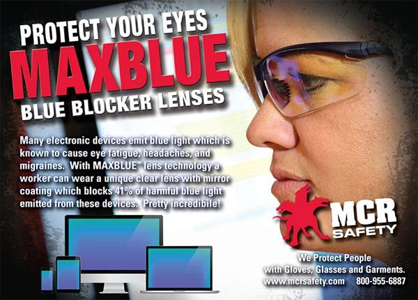 MCR Safety's MAX Blue lens coating
