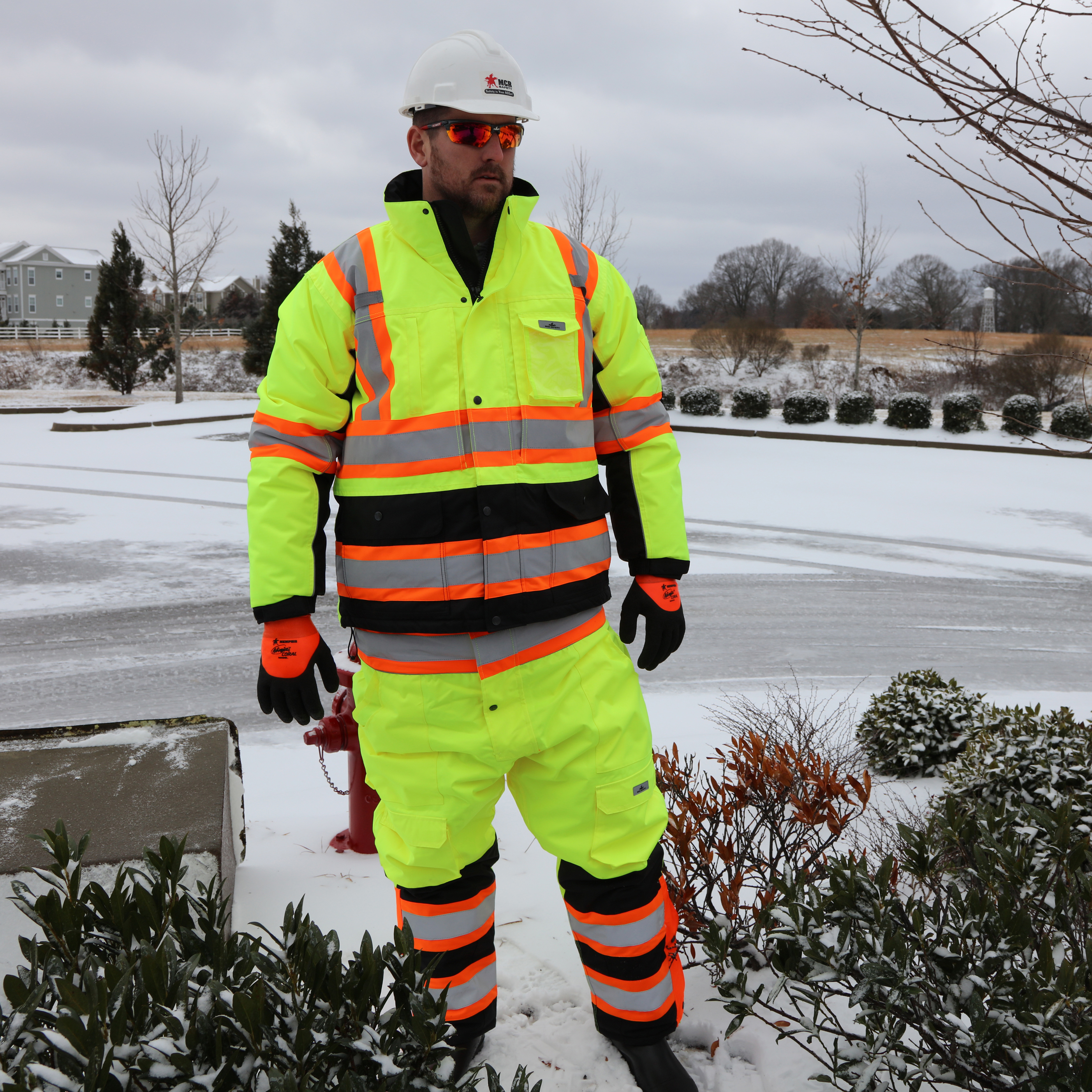 High Visibility Gloves, Garments, and Apparal