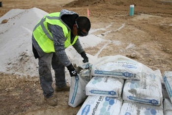 Cement Dust from poring Portland cement