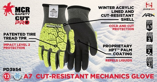 Cut Resistant Insulated Impact Gloves
