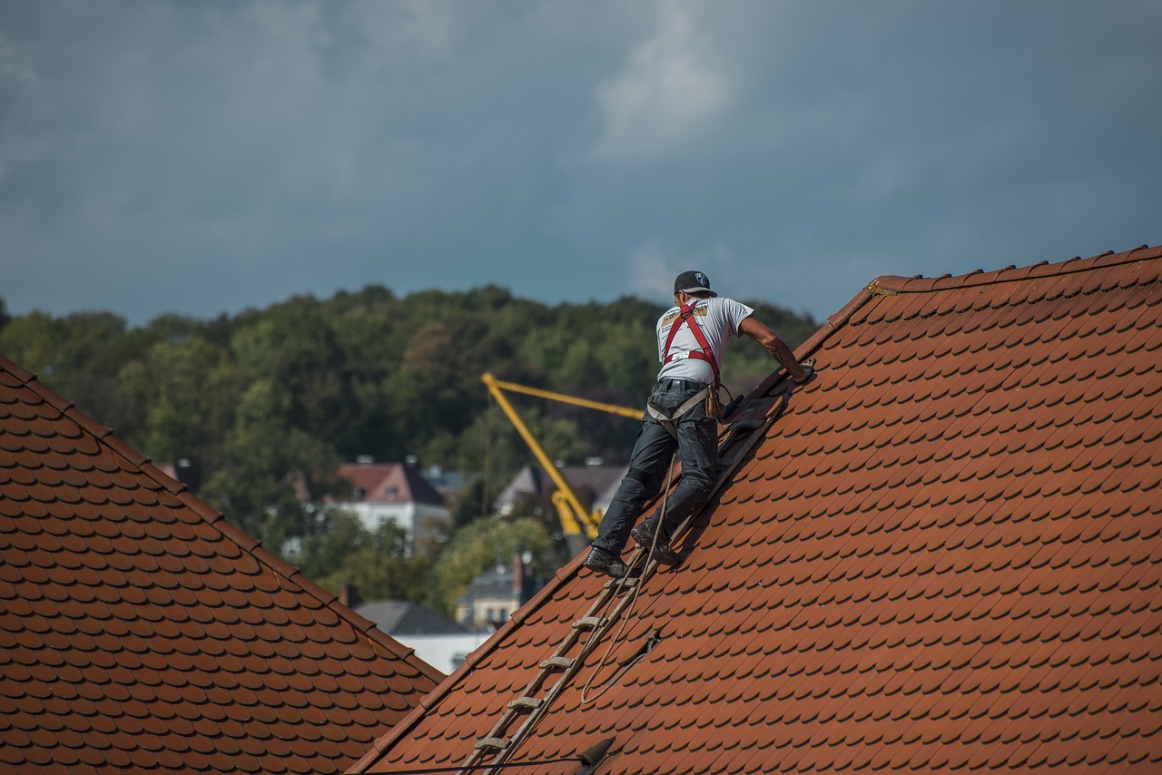 Roofing Industry guy on roof