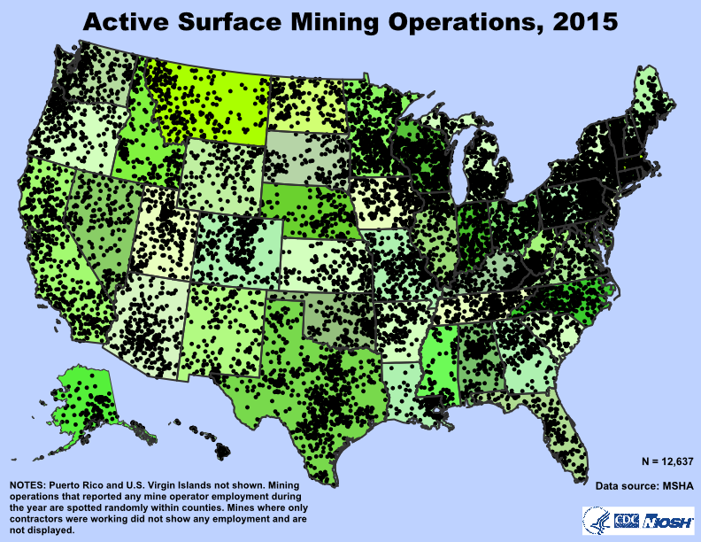 Active Surface Mines