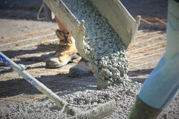 Raking Concrete