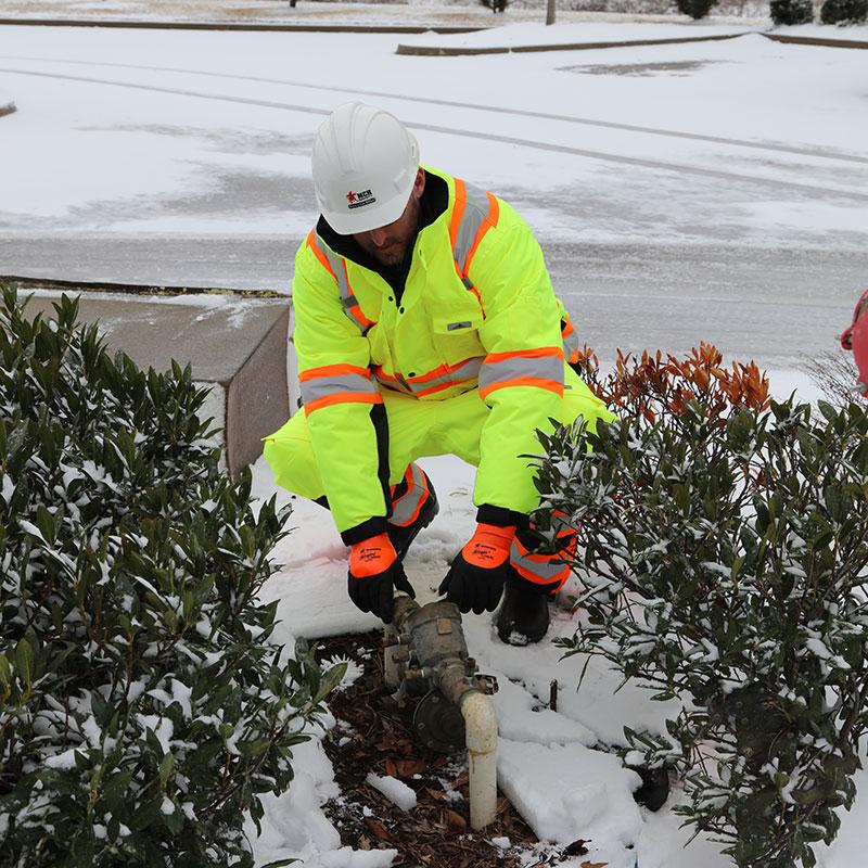 MCR Safety Hi-Vis gear in the snow