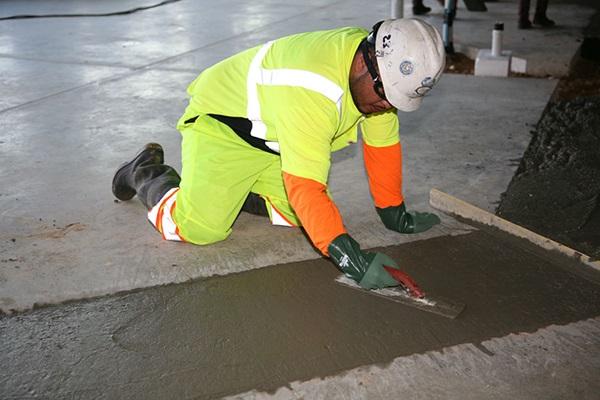 Wet Concrete Hazardous Application