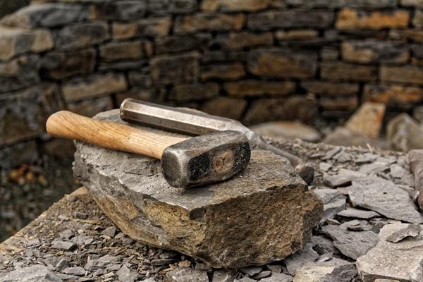 Hammer on Rock