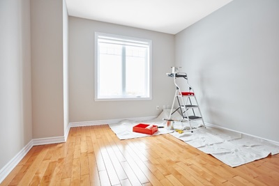 Painting white room