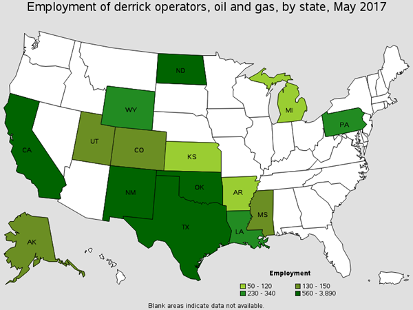 Employment of Derrick, Rotary Drill, and Service Unit Operators