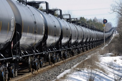 Tank Cars carrying crude oil
