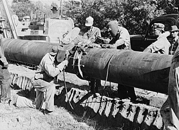 "Welding on the ""Big Inch"" Pipeline"