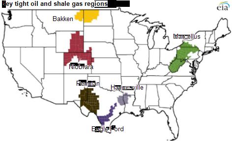 US key oil and gas regions