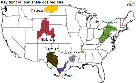 US key oil and gas regions