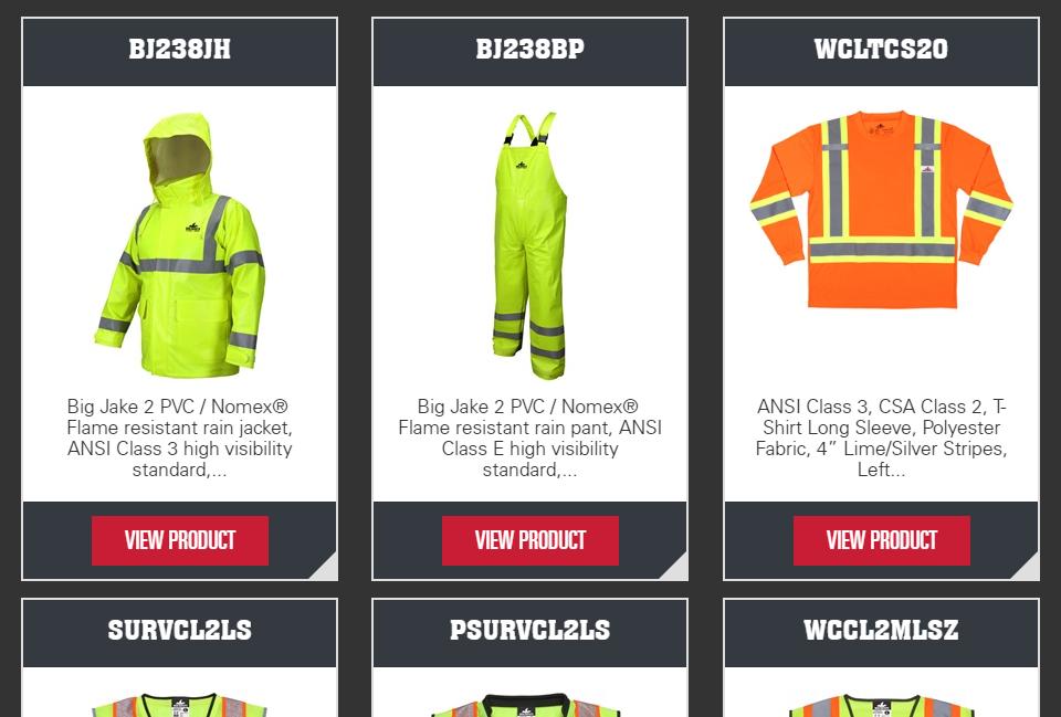 MCR Safety Garments Catalog