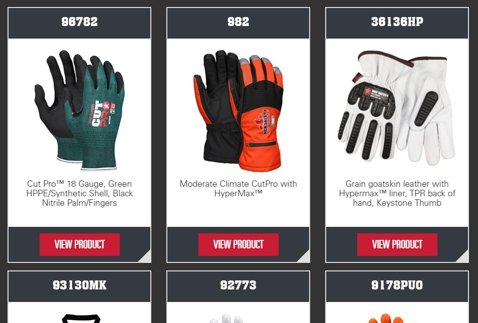 MCR Safety Gloves Catalog