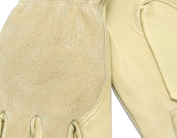 Grain Pigskin Leather Palm with Split Leather Back