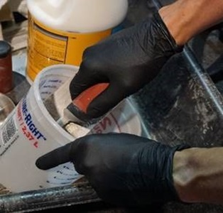 Chemical and liquid mixing protection with Grippaz