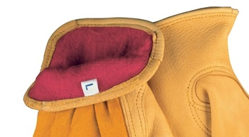 Red Fleece Lined Gloves