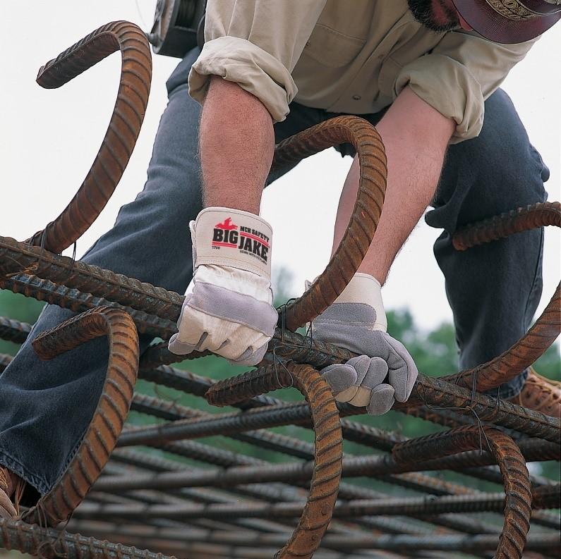 Worker Grabbing Iron