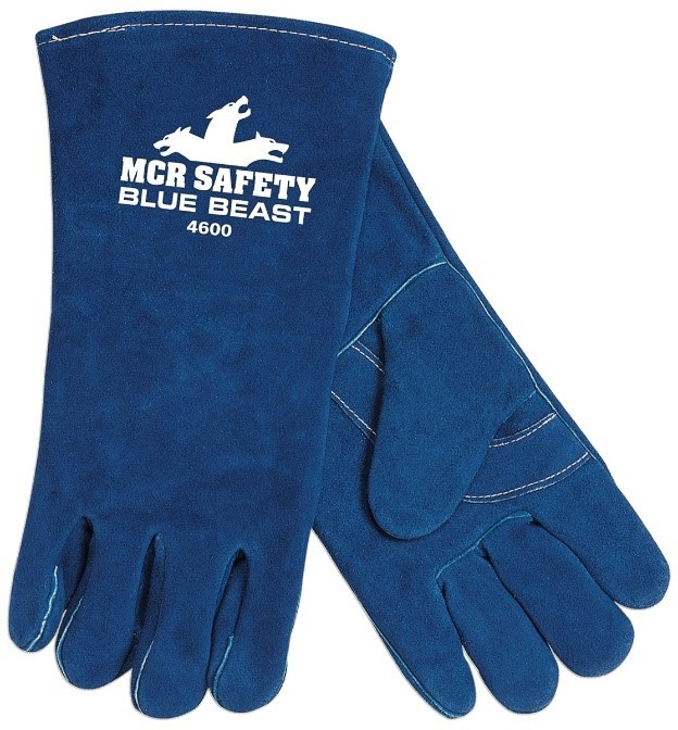 Blue Beast Leather Glove