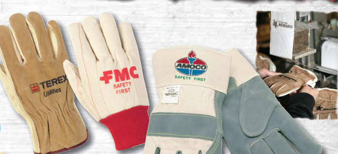 Customized logo on leather gloves