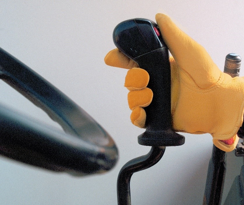 Hand Leather Glove Holding Handle