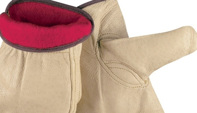 Keystone Thumb, Red Fleece Lined Leather Gloves