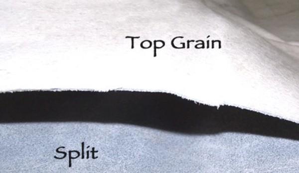 Top grain split grain image