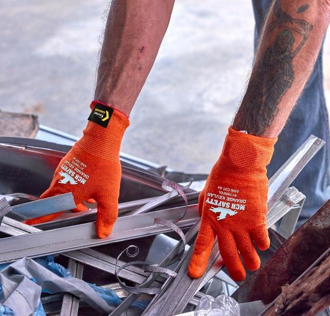 MCR Safety Orange Kevlar Sheet Metal Working