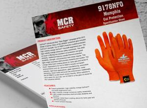 MCR Safety Orange Kevlar Product Sheet